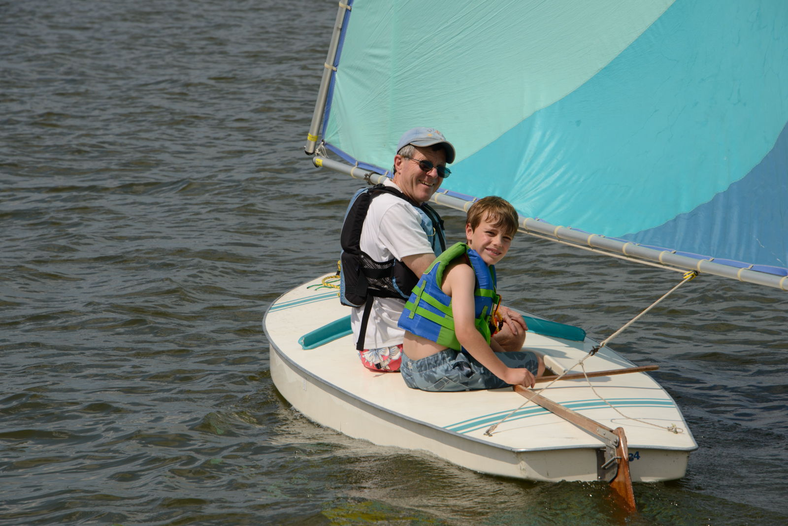 John Duckworth with young sailor